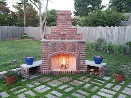 Step by Step Building of a Brick Outside Fireplace – Imhclille2015