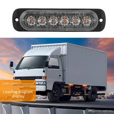 100 Truck Strobe Lights 12V 24V 18W 6 LED Waterproof Car Emergency Beacon Warning