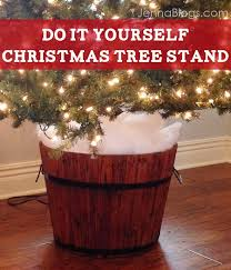 DIY Christmas Tree Barrel Stand
