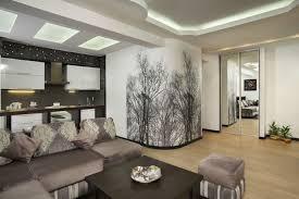 fototapete mit schwarz weißen laublosen bäumen als motiv