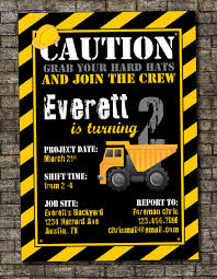 Construction Birthday Party Invitations -crane Construction Truck ... Birthday Cstruction Themed Party With Free Printables  Noted Trucks Pictures Amazon Com 12340 Watsons Cstruction Truck Birthday Party Holy City Chic Truck Dessert Cake Plates Napkins And Cups Home Ideas Invitations Monster Fire Envelopes First Themed Invites Items Similar To Augustines 2nd M Loves Stay At Homeista Boys Name Age Poster Crane
