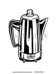 Coffee Percolator Retro Clip Art Stock Vector Royalty Free