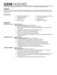Resume For A House Professional Cleaner Residential Experience Cleaning Samples