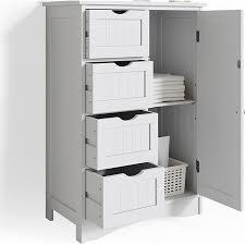vicco badschrank bianco badregal mit 4 schubladen 81x55x30cm badmöbel weiß sideboard badezimmerschrank im landhausstil