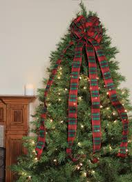 Northlight 48 Traditional Red And Green Plaid Print 16 Loop Christmas Tree Topper Bow Decoration
