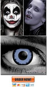 Blue Prescription Halloween Contacts by Fx Contact Lenses Costume Theatrical Special Effects Contacts