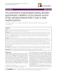 100 Gad 2 PDF The Assessment Of Generalized Anxiety Disorder