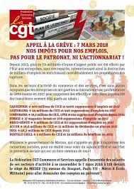 siege medef fédération cgt du commerce appel à la grève 7 mars 2018