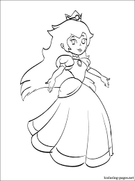 Princess Peach Mario Printable Coloring Page