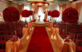 Red Gold And White Wedding Decorations Receptions