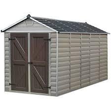 6 X 6 Rubbermaid Storage Shed by Palram Skylight Storage Shed 6 U0027 X 12 U0027 Tan Walmart Com