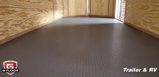 Checkerboard Vinyl Flooring For Trailers by G Floor Garage Vinyl Floor Covering Better Life Technologies