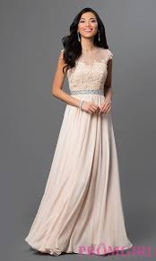 long lace top sweetheart prom dress