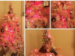 White Christmas Tree With Pink Decorations Diy