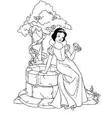 Snow White Walt Disney Princesses Coloring Pages