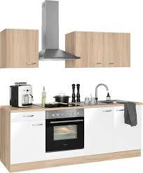 optifit küchenzeile parare 210 bzw 270 cm mit hanseatic e geräten wahlweise mit oder ohne kühlschrank kaufen otto