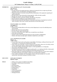 Download Call Center Team Leader Resume Sample As Image File