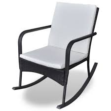 Amazon.com : VidaXL Outdoor Indoor Wicker Rocking Chair With ...