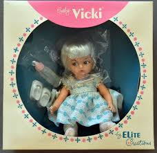 RARE 1950s BABY VICKI DOLL By Elite Creations Complete In Original