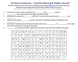 Download Our FREE Indonesia Worksheet For Kids