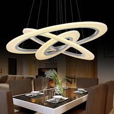 ring aluminum acrylic led ceiling light living room bedroom study room l office commercial lighting chandelier90 240v
