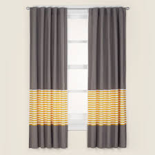 kids curtains kids grey yellow curtain panels the land of nod