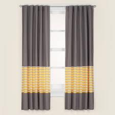 Striped Curtain Panels 96 by Kids U0027 Curtains Kids Grey U0026 Yellow Curtain Panels The Land Of Nod