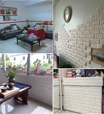 100Pcs 3D Foam Stone Brick Self Adhesive Wallpaper DIY Wall