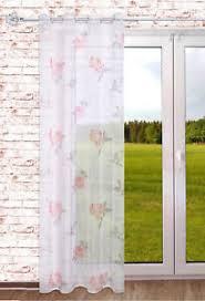 details zu transparenter ösenschal vintage wohnzimmer schlafzimmer gardine 140x245 cm
