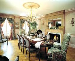 Dining Room With Fireplace Tiles