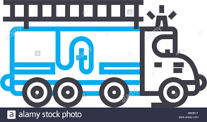 Fire Engine Vector Thin Line Stroke Icon. Fire Engine Outline ... Firetruck Clipart Free Download Clip Art Carwad Net Free Animated Fire Truck Outline On Red Neon Drawing Stock Illustration 146171330 Engine Thin Line Icon Vector Royalty Coloring Page And Glyph Car With Ladder Fireman Flame Departmentset Colouring Pages Trucks Printable Lineart Of A Cartoon Black And White With Linear Style Sign For Mobile Concept Truck Icon Outline Style Image Set Collection Icons