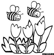 B Is For Bee Coloring Page