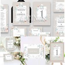 Download Premium Vector Of Blue Floral Wedding Invitation