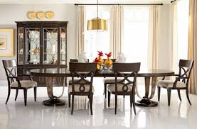 bob mackie home oval double pedestal dining table closeout by
