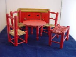 details zu puppenmöbel für puppenhaus esszimmer puppenhausmöbel puppenstube möbel alt