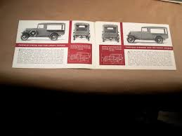 3 Original 1930s Chevrolet Truck Fold Out Brochures Canopy - Stake ...