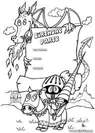 Fairy Birthday Party Invitation Dragon