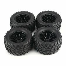 100 Truck Rims And Tires Package Deals 4Pcs 130mm Wheel Rim For 110 Monster Racing RC Car