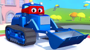 100 Trucks Cartoon Carl The Super Truck And The Bulldozer In Car City Cartoons