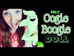 Oogie Boogie Halloween Stencil by Halloween Craft Felt Boogie Monster Oogie Boogie Youtube