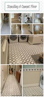 stenciling a cement floor with a moroccan pattern stencil