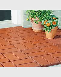 Rubber For Patio Paver Tiles by Recycled Rubber Paver Mat Gardener U0027s Supply