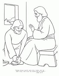 Jesus Washes The Disciples Feet Coloring Page Home Pertaining To