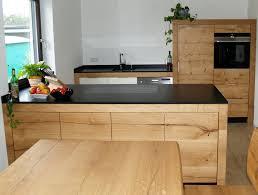 küche aus eiche mit kochinsel 1m tief spülenzeile