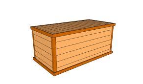 outdoor storage box seat plans