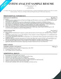 Systems Support Analyst Resume Example System Sample Samples In Best Senior Business