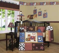 Boy Crib Bedding by Geenny Western Horse Cowboy 13pcs Crib Bedding Set