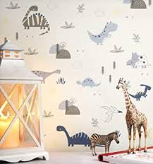 newroom kindertapete blau dinosaurier pflanzen kinder papiertapete papier kindertapete kinderzimmer babytapete babyzimmer fauna