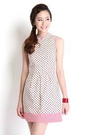 vision of spring cheongsam dress in cream lilypirates