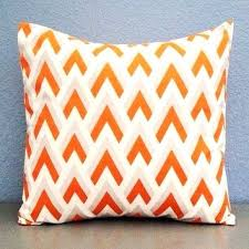 Best Orange Accent Pillows Orange Grey And Chevron